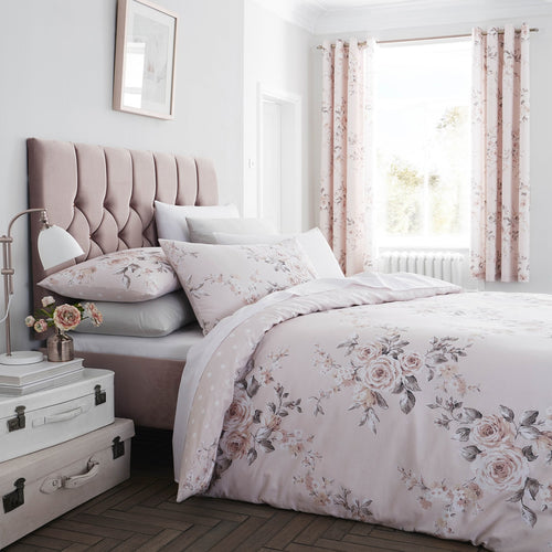 Catherine Lansfield - Canterbury Blush Double Size Quilt Set