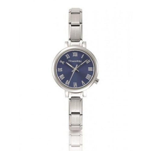 Nomination Watches- Stainless Steel Paris Round Watch With Blue Face