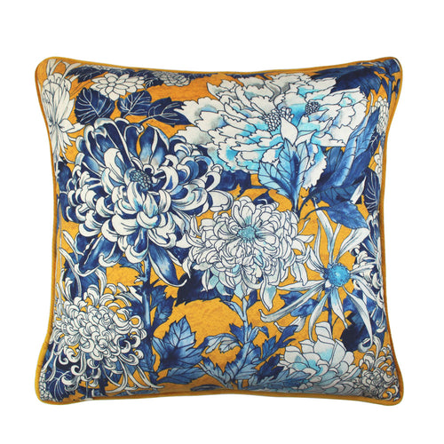 Scatterbox Cushion - Sakura Yellow / Blue Large