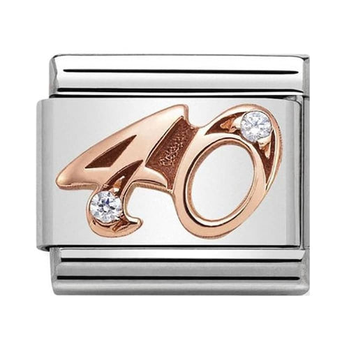 Nomination Rose Gold Age 40 Charm