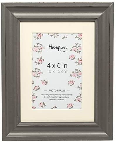Hermoza 4x6 Grey with Mount Frame by Hampton Frames