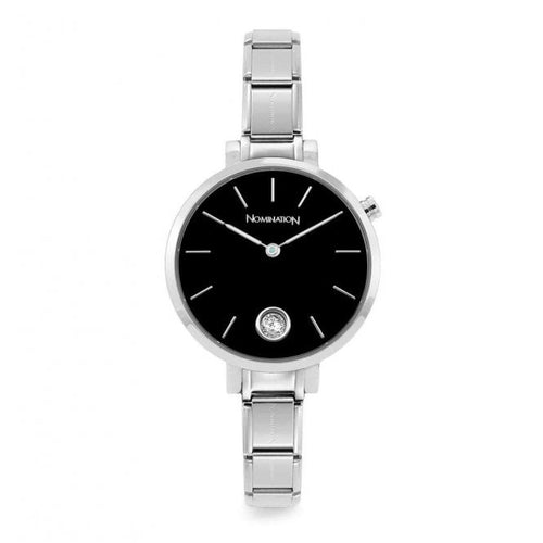 Nomination Watches- Stainless Steel NEW Paris Round Watch With Black Face
