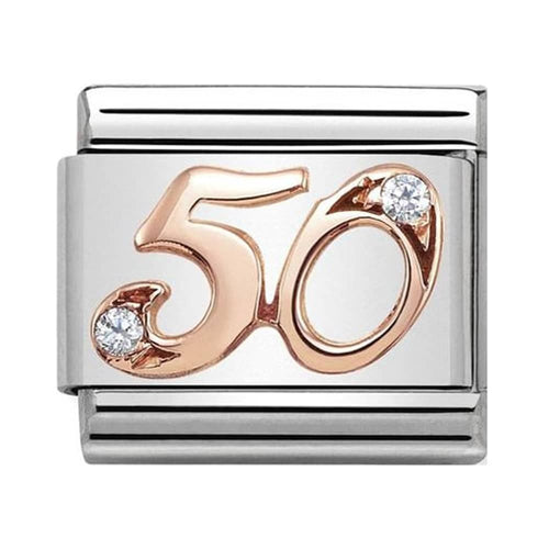 Nomination Rose Gold Age 50 Charm