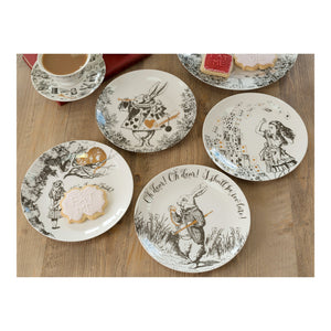 Alice in Wonerland 4 x Side Plates