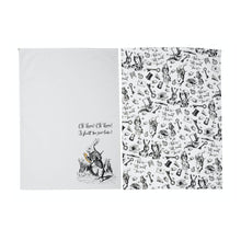 Load image into Gallery viewer, Alice in Wonderland Set of 2 Tea Towels