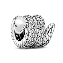 Load image into Gallery viewer, Pandora Sparkling Wrapped Snake Animal Charm