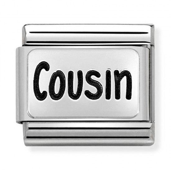 Nomination Silver Oxidised Cousin Charm