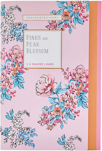 Pinks & Pear Blossom Drawer Liners by Heathcote & Ivory
