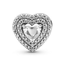 Load image into Gallery viewer, Pandora Sparkling Levelled Heart Charm