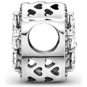 Pandora Sparkling Levelled Heart Charm
