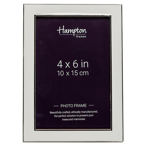 Annabel 4 x6 Grey Enamel by Hampton Frames
