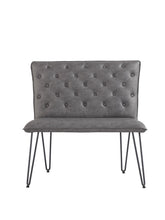 Load image into Gallery viewer, Lucca Studded Dining Bench 90 - Grey