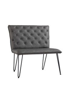 Lucca Studded Dining Bench 90 - Grey