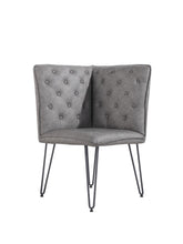Load image into Gallery viewer, Lucca Studded Corner Dining Bench - Grey