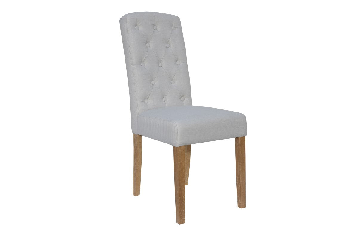 Manor Button Dining Chair - Natural