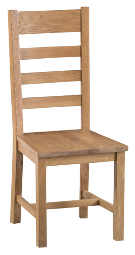 Cornish Ladder Back Dining Chair - Wooden Seat