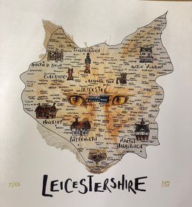 Leicestershire Fox Map Picture