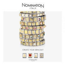 Load image into Gallery viewer, Nomination Yello Gold Double Link Engravable Plate Charm
