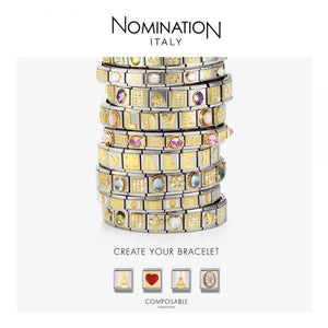 Nomination Yellow Gold Rugby Charm