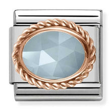 Load image into Gallery viewer, Nomination Rose Gold Milky Aquamarine Charm