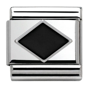 Nomination Black Enamel Rhombus Charm