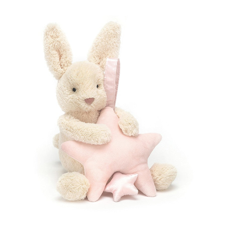 Jellycat Star Bunny Pink Musical Pull
