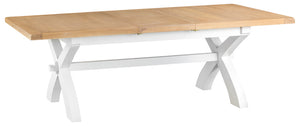 Malvern 1.8m Cross Extending Table White