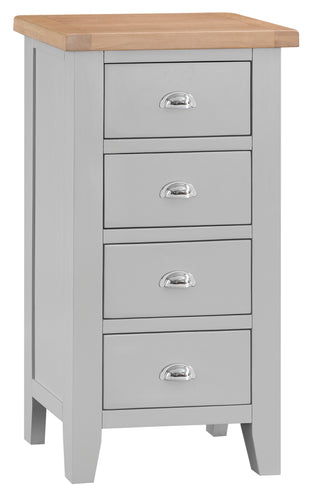 Malvern 4 Drawer Narrow Chest Grey