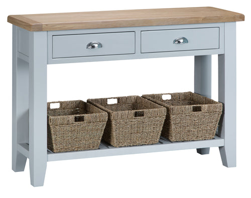 Malvern Large Console Table Grey