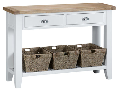 Malvern Large Console Table White