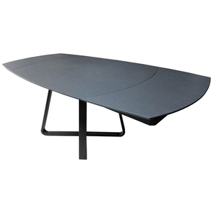 Twist Dining Table - Grey Glass