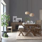 Hope Slatted Dining Chair - Check Grey