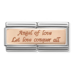 Nomination Rose Gold Double Link Angel of Love Charm