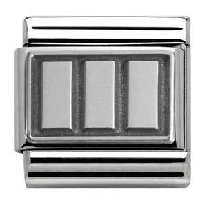 Nomination Oxidised Rectangles Charm