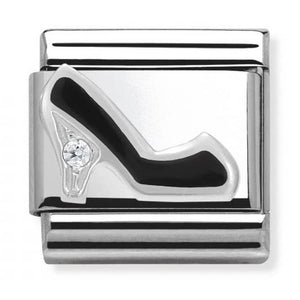 Nomination Black Cubic Zirconia Stiletto Charm