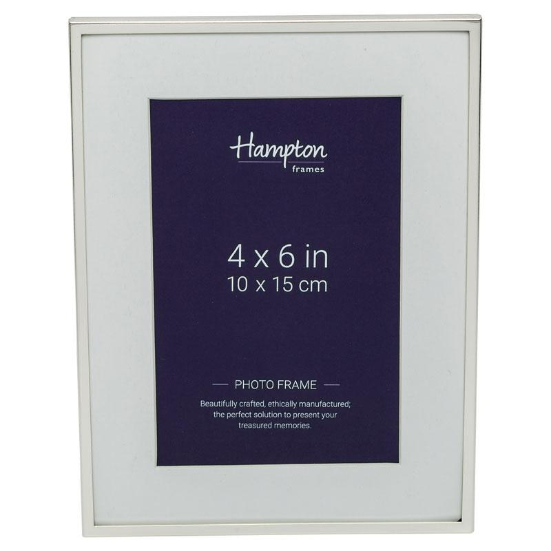 Mayfair 4x6 Silver Frame by Hampton Frames