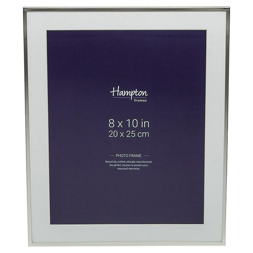 Mayfair 10x8 Silver Frame by Hampton Frames