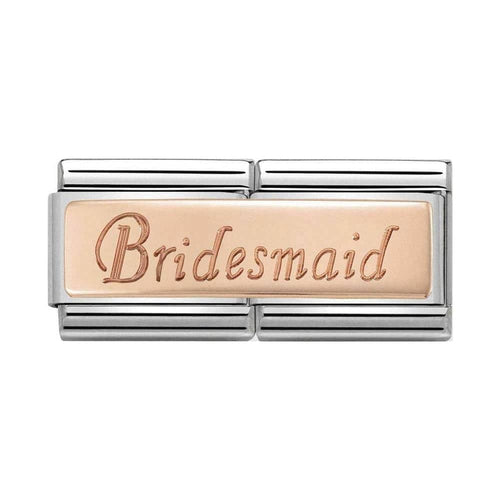 Nomination Rose Gold Double Link Bridesmaid Charm