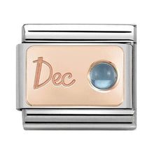 Load image into Gallery viewer, Nomination Rose Gold December Topaz Birthstone Charm