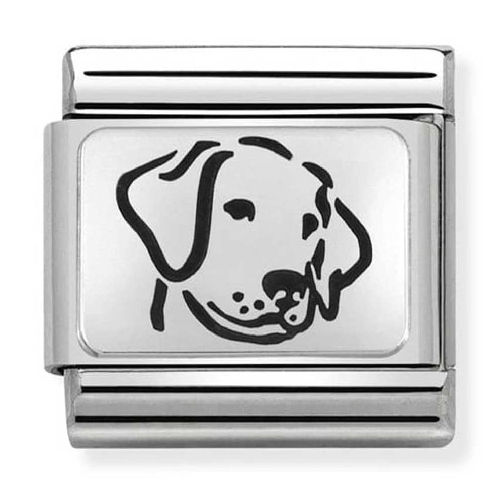 Nomination Oxidised Dog Charm