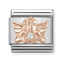 Load image into Gallery viewer, Nomination Rose Gold Angel of Family Charm