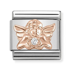 Nomination Rose Gold Angel of Family Charm