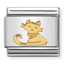 Load image into Gallery viewer, Nomination Yellow Gold Animals Of Earth Seated Cat