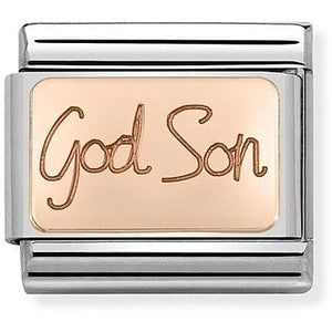 Nomination Rose Gold God Son Charm