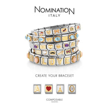 Load image into Gallery viewer, Nomination Yellow Gold Pink Cancer Ribbon Charm