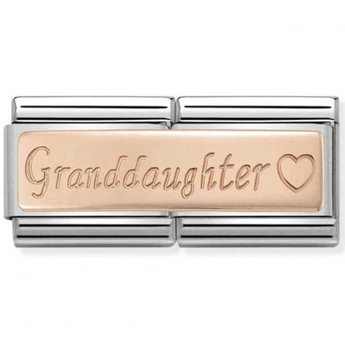 Nomination Rose Gold Double Link Granddaughter Charm