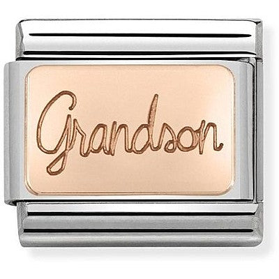 Nomination Rose Gold Grandson Charm