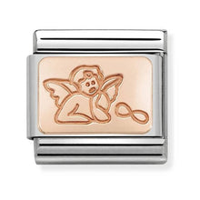 Load image into Gallery viewer, Nomination Rose Gold Gaurdian Angel Charm