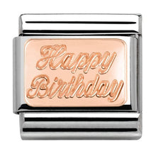 Load image into Gallery viewer, Nomination Rose Gold Happy Birthday Charm