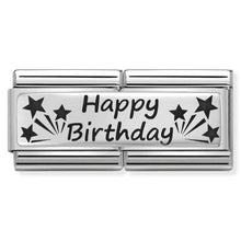 Load image into Gallery viewer, Nomination Double Link Happy Birthday Charm